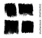 set of 4 square grunge black... | Shutterstock .eps vector #396936502