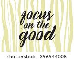 focus on the good inscription.... | Shutterstock .eps vector #396944008