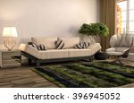 interior with sofa. 3d... | Shutterstock . vector #396945052