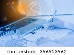 the equipment of science for... | Shutterstock . vector #396953962