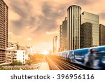 bts skytrain rails in bangkok... | Shutterstock . vector #396956116