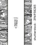 graphic ocean fish drawn in...   Shutterstock .eps vector #396958285