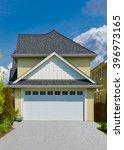 double doors garage and long... | Shutterstock . vector #396973165