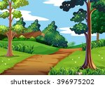 nature scene with forest and... | Shutterstock .eps vector #396975202