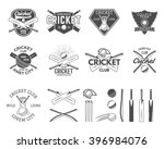 set of cricket logo templates.... | Shutterstock .eps vector #396984076