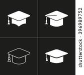 graduation cap   vector icon.... | Shutterstock .eps vector #396989752