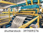 cold rolled steel coil on... | Shutterstock . vector #397009276