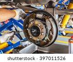 maintenance car brakes hub in... | Shutterstock . vector #397011526