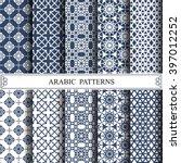 arabic vector pattern pattern...   Shutterstock .eps vector #397012252