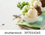 colorful ive cream scoops in... | Shutterstock . vector #397014265
