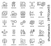 icons business and kinds of... | Shutterstock .eps vector #397016455