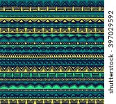 seamless ethnic pattern drawn...   Shutterstock .eps vector #397029592