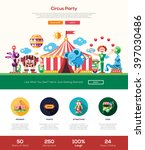 circus and carnival party one... | Shutterstock .eps vector #397030486