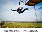 ropejumping  people in flight... | Shutterstock . vector #397030705