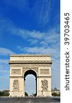 beautiful  view of the arc de... | Shutterstock . vector #39703465