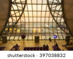 airport terminal with airplane... | Shutterstock . vector #397038832