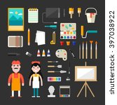 set of vector icons and...   Shutterstock .eps vector #397038922
