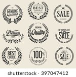 sale laurel wreaths collection | Shutterstock .eps vector #397047412