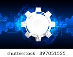 abstract technology background. ... | Shutterstock .eps vector #397051525