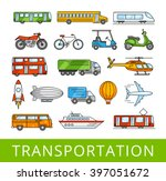 city transport collection.... | Shutterstock .eps vector #397051672