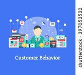 customer behavior   marketing... | Shutterstock .eps vector #397053532