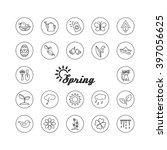 season   spring. set of...   Shutterstock .eps vector #397056625