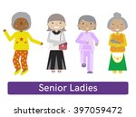 set of senior citizens. flat... | Shutterstock .eps vector #397059472