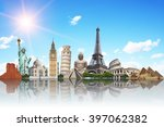 famous monuments of the world... | Shutterstock . vector #397062382