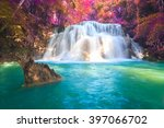 waterfalls in deep forest at... | Shutterstock . vector #397066702