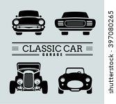 Set Classic Car Front View Ico...