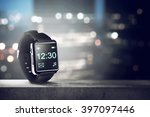 black smart watch. you can put... | Shutterstock . vector #397097446