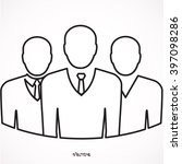 three businessman silhouettes... | Shutterstock .eps vector #397098286