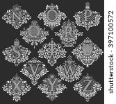 set of heraldic monograms in... | Shutterstock .eps vector #397100572