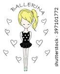 ballerina girl | Shutterstock .eps vector #397101772