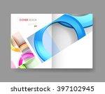cover annual flyer poster easy... | Shutterstock .eps vector #397102945
