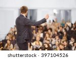 speaker at business convention... | Shutterstock . vector #397104526