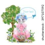 portrait of the  funny cat... | Shutterstock . vector #397107592