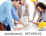 team of professional engineers | Shutterstock . vector #397109122