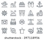 holiday  beach icon set... | Shutterstock .eps vector #397118956