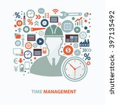 time management concept design... | Shutterstock .eps vector #397135492