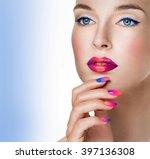 beauty woman portrait.... | Shutterstock . vector #397136308