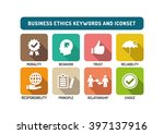 business ethics flat icon set | Shutterstock .eps vector #397137916