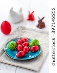 chocolate easter eggs   Shutterstock . vector #397143352