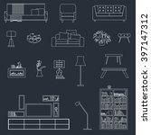 interior furniture  vector...