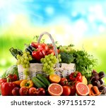 Variety Of Organic Vegetables...