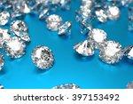luxury diamonds on blue... | Shutterstock . vector #397153492