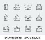 Vector Medieval Castles Icon...