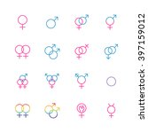 male and female sexual... | Shutterstock .eps vector #397159012