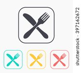 kitchen icon of crossed fork... | Shutterstock .eps vector #397162672