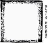 vector grunge border frame | Shutterstock .eps vector #39716590